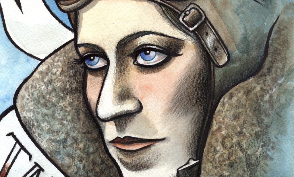 Amy Johnson. Mel Langton Art Inspirational Ladies Series